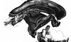 Speech drawing - Alien