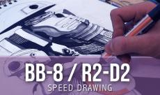 VIDÉO : Speed Drawing - BB-8 / R2-D2