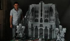 Erebor reconstruite à l'aide de 120 000 pièces Lego