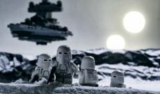 Un superbe diorama de la bataille de Hoth en Lego