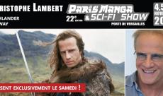 Christophe Lambert est l'invité de la prochaine édition de Paris Manga