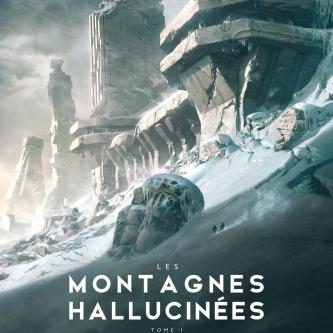 Une superbe couverture de François Baranger pour son adaptation illustrée des Montagnes Hallucinées de Lovecraft
