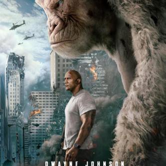 The Rock est aussi menaçant que son gorille géant sur le dernier poster de Rampage
