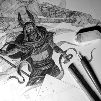 Retrouvez une superbe sérigraphie Assassin's Creed : Origins chez Geek-Art