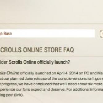 Six mois de retard pour la version console de The Elder Scrolls Online