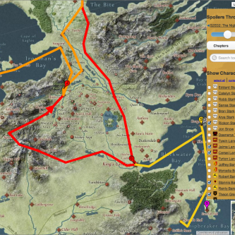 Game of Thrones: l'impressionnante carte interactive de Westeros