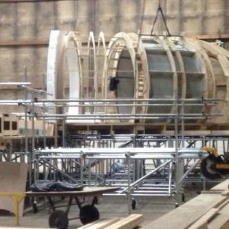 Des photos du Faucon Millenium en construction pour Star Wars VII