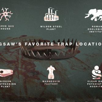 La franchise Saw compile ses morts et ses pièges dans de sanglantes infographies