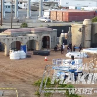 La série télévisée Star Wars installe ses plateaux en prévision de son début de tournage