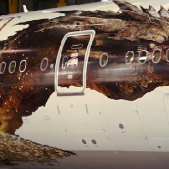 Une première image de Smaug dévoilée... sur un avion