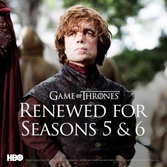 Game of Thrones renouvelé pour des saisons 5 et 6