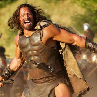 Des photos officielles de The Rock en Hercules