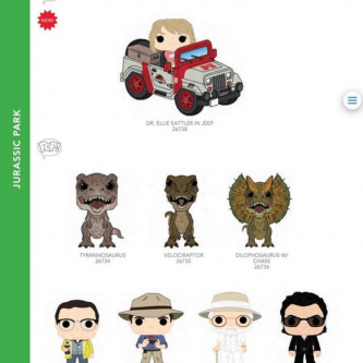 Funko célèbre les vingt-cinq ans de Jurassic Park dans sa ligne POP!