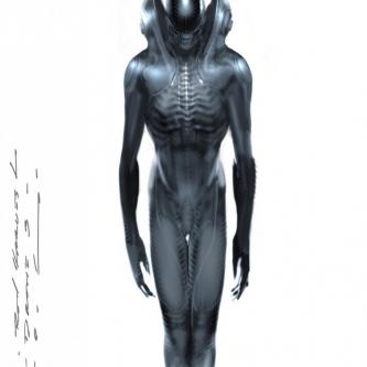 L'artiste Carlos Huante (Prometheus, Covenant) montre son Xénomorphe d'un film Alien avorté