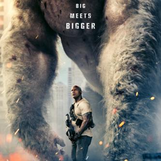 Dwayne Johnson affronte des gros monstres dans le trailer de Rampage
