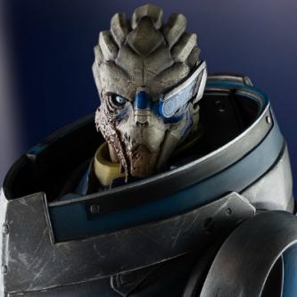 Mass Effect: une statue de Garrus Vakarian chez Gaming Heads
